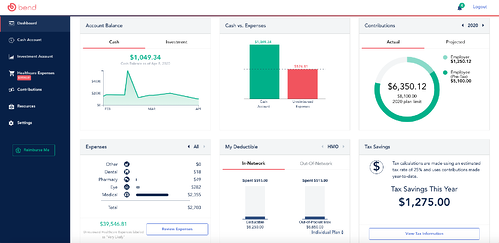 Bend HSA Dashboard