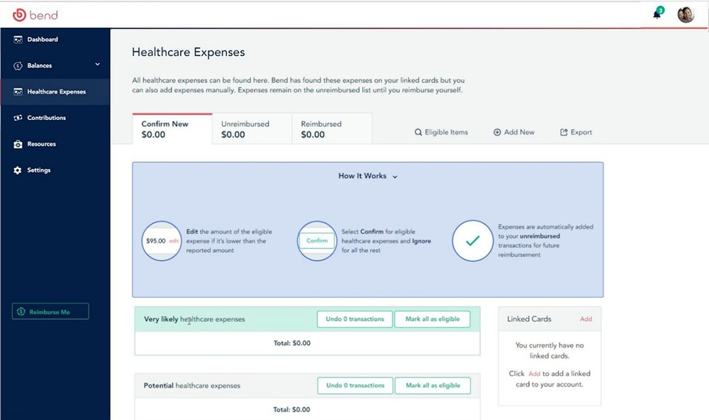 Demo screen of the Bend HSA eligibility interface
