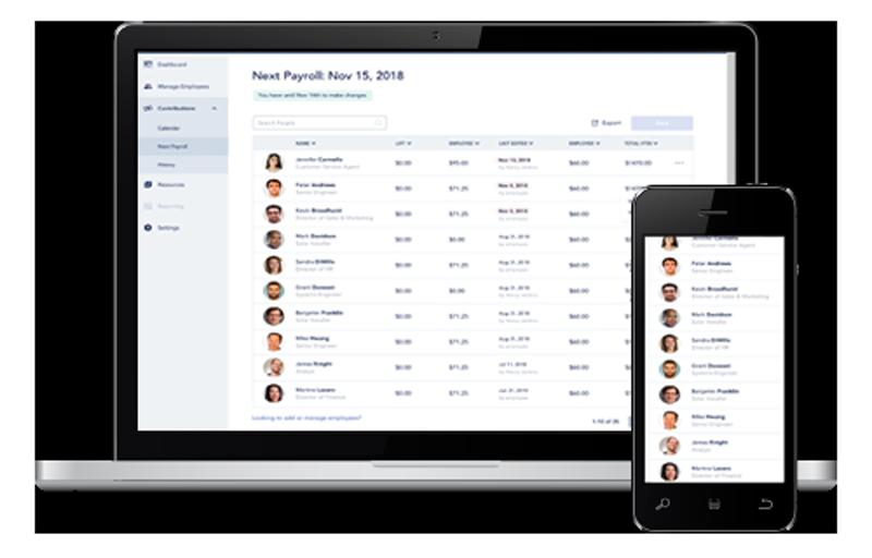 Screenshots of health savings dashboard by Bend HSA